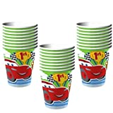 Disney Cars 1st Birthday Champ 9 oz. Paper Cups - 24 Pieces