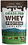 Chocolate Grass Fed Whey Protein Powder Isolate | Chocolate + Non GMO + Gluten Free | 1 lb