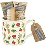 Heathcote & Ivory Gardeners Tea Break Hand Essentials - Wash, Cream, Brush & Mug set