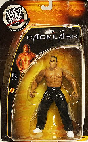 Jakks Pacific WWE Backlash The Rock Action Figure - 1