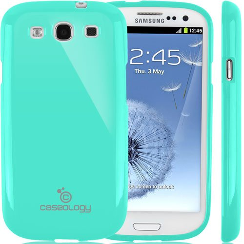 Galaxy S3 Case, Caseology [Drop Protection] Samsung Galaxy S3 Case [Turquoise Mint] Slim Fit Tpu Cover [Shock Absorbent] Armor Bumper Galaxy S3 Case [Made In Korea] (For Samsung Galaxy S3 Verizon, At&T Sprint, T-Mobile, Unlocked) front-210425