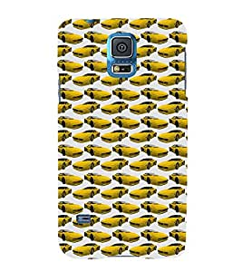 Vizagbeats Yellow Cars Back Case Cover for Samsung S5