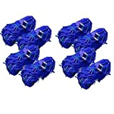 A To Z Traders BigSize BLUE Rice Light (Pack Of 8) And (FREE 1 HAND Shape LED Light KEY-CHAIN) For Festivals Diwali...