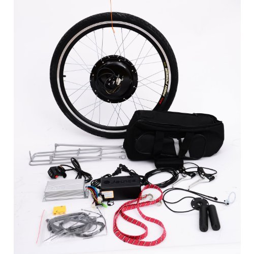 Aosom Rear Wheel 48V 1000W Electric Battery Powered Bicycle Motor Conversion Kit, 26