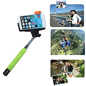 Toch TM Universal Wireless Bluetooth Extendable Self Portrait Monopod Adjustable iPhone Stick Pole with Remote Button Shutter for iphone6 iphone 6 plus iphone 4/5/5s Samsung S3/S4 Note 2/3/4 Green