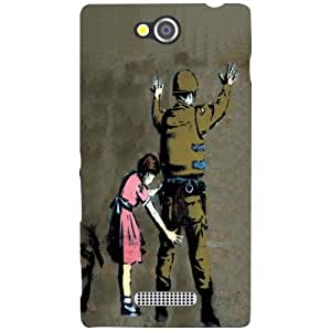 Sony Xperia C Back Cover - Hands Up Designer Cases