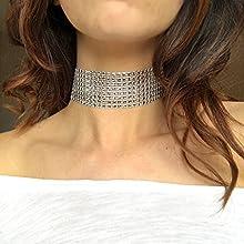 LUXE Rhinestone Diamate Style CHOKER