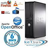Dell Desktop PC Quad Core OptiPlex Tower - Windows 7 x64 (Eligible for Windows 10 Upgrade) - Open Office - FREE Wifi Dongle/Adapter + KelsusIT Mouse - (500GB HDD - 4GB DDR3 RAM)