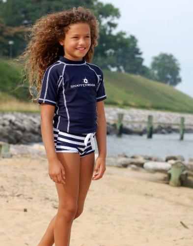 Short Sleeve Rash Swim Upf 50 By Snapper Rock Solid Navy