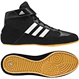 Adidas HVC Laced Wrestling Shoes - Black/White