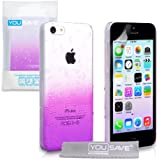 Yousave Accessories AP-GA02-Z067 Coque pour iPhone 5C Violet/Transparent