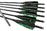Pfeile schwarze traditionelle Holzpfeile Camo Leitfeder  Bogenschießen