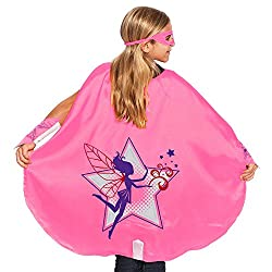 Pink Fairy Superhero Cape with Eye Mask and Wristbands