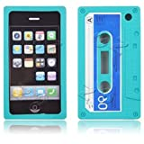 Cassette Retro Tape Cover for iPhone 3G 3GS Gel Silicone Stylish Case Skin Sky Blue from gadget Zoo