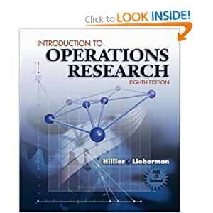 Introduction to Operations Research and Revised -ROM 8  by Frederick Hillier