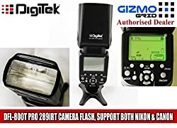 Digitek DFL-800T 289IRT Pro Electronic Camera Flash with Auto-Sensing