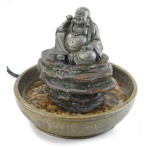 Gifts & Decor Water Figurine Laughing Buddha Fountain Decor