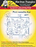 Purr-sonality Kat Aunt Martha's Hot Iron Cross Stitch Embroidery Transfer