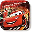 """American Greetings Cars 9"""" Square Plate, 8 Count, Party Supplies Novelty"""