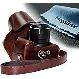 """MegaGear """"Ever Ready"""" Braun Leder Kamera, Tasche für Canon PowerShot SX50 HS"""