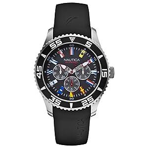 Nautica Men's N12626G NST 07 Flags Classic Analog Watch