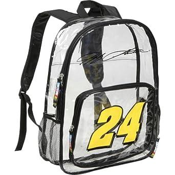 Nascar Jeff Gordon Clear Backpack by Nascar