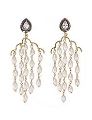 Amethyst By Rahul Popli White Gold Plated Stud Earrings