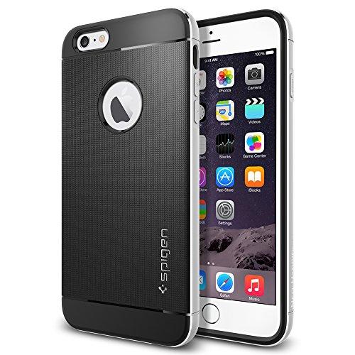 iPhone 6 Plus ケース, Spigen® [アルミニウム バンパー] ネオ・ハイブリッド メタル Apple iPhone (5.5) アイフォン 6 プラス カバー (国内正規品) サテン・シルバー SGP11070
