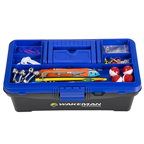 Wakeman-Fishing-Single-Tray-Tackle-Box-55-Pc-Tackle-Kit