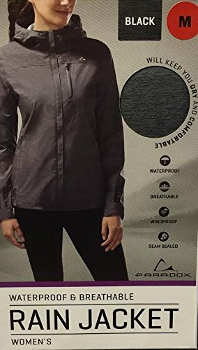 Paradox Waterproof & Breathable Women's Rain Jacket, Medium, Black