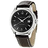 Hamilton Jazzmaster Viewmatic 40mm Men's Automatic Watch with Black Dial Analogue Display and Brown Leather Strap H32515535
