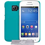 Coque rigide EXTRA FINE Turquoise Samsung Galaxy Core 4G LTE SM-G386F + STYLET et 3 FILMS OFFERT !!