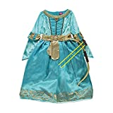 Disney Brave Princess Merida Costume with Bow & Arrows - Age 5-6 Years