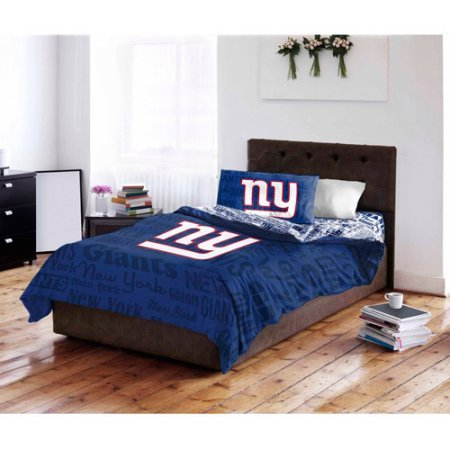 NFL New York Giants Bed in a Bag Complete Bedding Set, Queen (New York In A Bag compare prices)