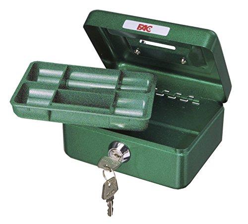 FAC 17016 - Mini cassetta di sicurezza con feritoia salvadanaio, numero 0, colore verde