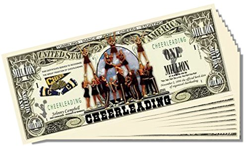 Cheerleading Million Dollar Bill - 25 Count with Bonus Clear Protector & Christopher Columbus Bill