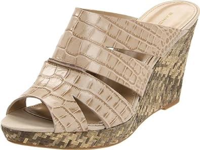 Bandolino Women's Avarnah Wedge Sandal,Taupe,7.5 M US