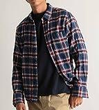 (バレッタ) Valletta ネルチェックシャツ 長袖 メンズ ネルシャツ チェック柄 起毛 暖かい 腰巻き 肩掛け ストリートモード カジュアル 32ネイビー×レッド Mサイズ