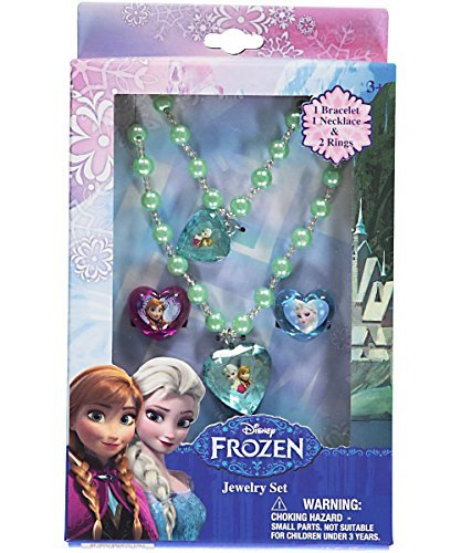 Disney Frozen Jewelry Box Set with Necklace, Bracelet & Two Rings