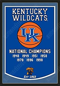 Dynasty Banner Of Kentucky Wildcats With Team Color Double Matting-Framed Awesome... by Art and More, Davenport, IA