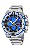 Festina Chrono Bike 2012 Men's Quartz Watch with Blue Dial Chronograph Display and Silver Stainless Steel Bracelet F16599/4