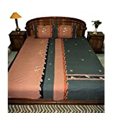 Amita's Home Furnishing Multi Color Embroided & Patch Work Bed Linen - B00YR99NZS
