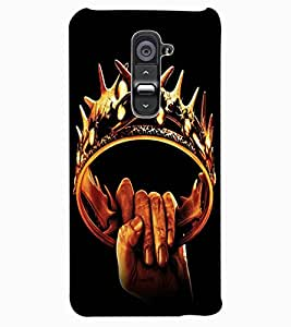 ColourCraft The Crown Design Back Case Cover for LG G2