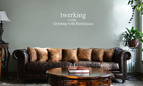 DECAL SERPENT Funny Twerking Definition Miley Cyrus Dance Vinyl Wall Mural Decal Home Decor Sticker (WHITE)