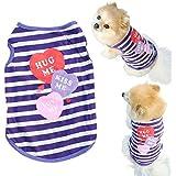 Culater® Pet Dog Clothes Cat Spring Summer Shirt Small Clothes Vest T Shirt (S)