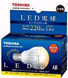 TOSHIBA E-CORE LED電球 ミニクリプトン形3.4W E17口金(電球色相当) LDA3L-E17