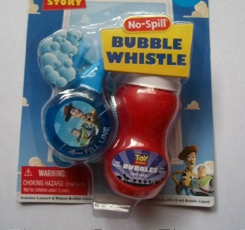 Disney Pixar Toy Story Woody & Buzz Lightyear No Spill Bubble Whistle - 1