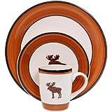 Mainstays Moose Cabin 16-Piece Dinnerware Set