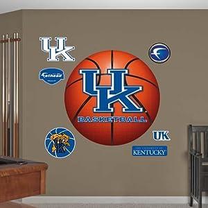 NCAA Kentucky Wildcats Basketball Logo Wall Graphic by Fathead