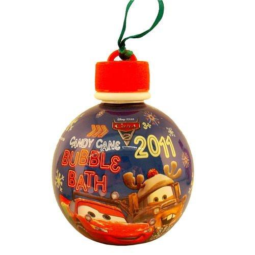 Cars Bubble Bath Ornaments - Candy Cane
